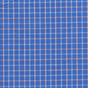 EY-1073 (Blue with White & Orange Checkers)