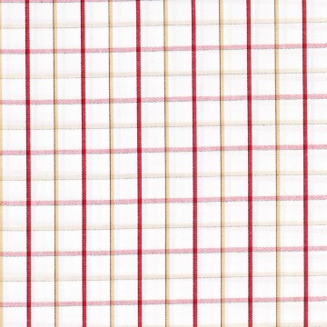 EY-401 (White with Red & Beige Checkers)